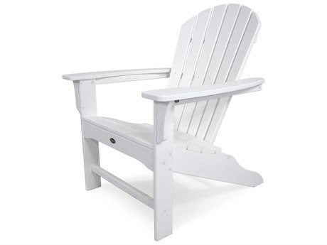 Trex® Outdoor Furniture Yacht Club Shellback Adirondack Chair in Classic White