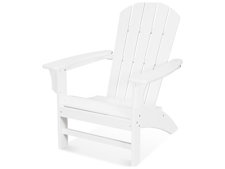 Trex Outdoor Furniture Yacht Club Adirondack Chair in Classic White