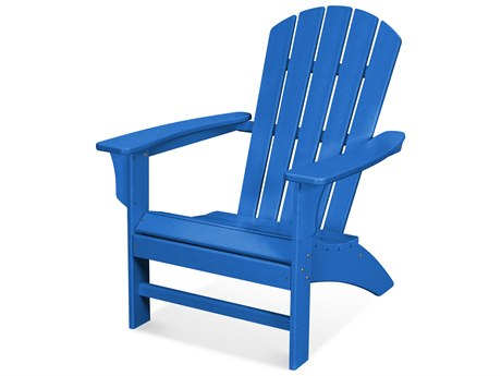 Trex Outdoor Furniture Yacht Club Adirondack Chair in Pacific Blue
