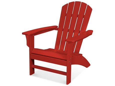Trex Outdoor Furniture Yacht Club Adirondack Chair in Sunset Red