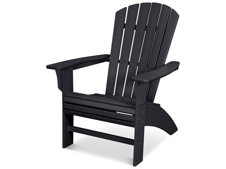 Trex Outdoor Furniture Yacht Club Curveback Adirondack Chair in Charcoal Black