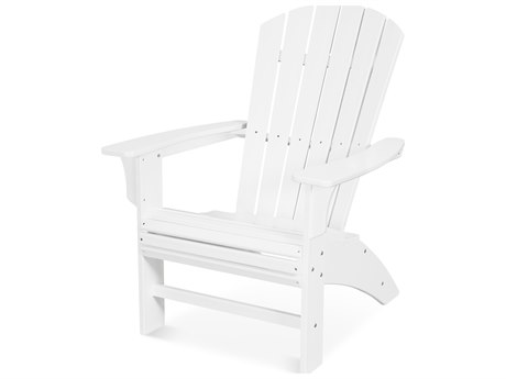 Trex Outdoor Furniture Yacht Club Curveback Adirondack Chair in Classic White