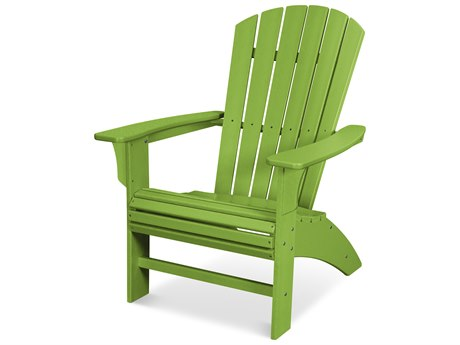 Trex Outdoor Furniture Yacht Club Curveback Adirondack Chair in Lime