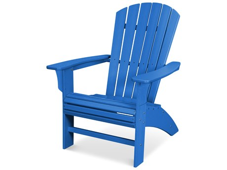 Trex Outdoor Furniture Yacht Club Curveback Adirondack Chair in Pacific Blue