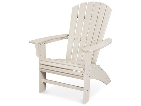 Trex Outdoor Furniture Yacht Club Curveback Adirondack Chair in Sand Castle