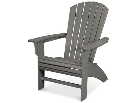 Trex Outdoor Furniture Yacht Club Curveback Adirondack Chair in Stepping Stone