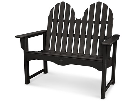 Trex® Outdoor Furniture Cape Cod Adirondack 48'' Bench in Charcoal Black