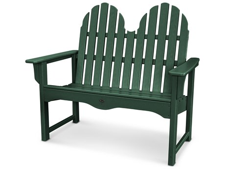 Trex® Outdoor Furniture Cape Cod Adirondack 48'' Bench in Rainforest Canopy