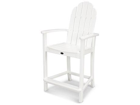 Trex® Outdoor Furniture Cape Cod Adirondack Counter Chair in Classic White