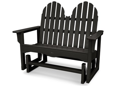 Trex® Outdoor Furniture Cape Cod Adirondack 48'' Glider in Charcoal Black