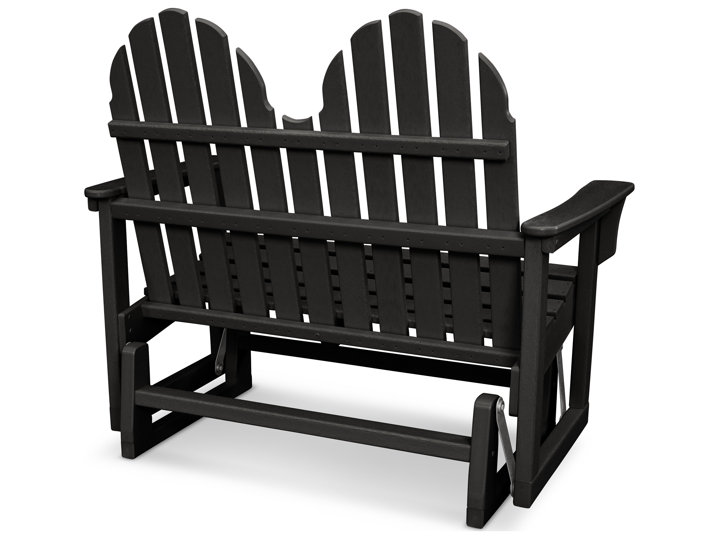Fabulous Trex Outdoor Furniture Cape Cod Adirondack 48 Glider In Charcoal Black Creativecarmelina Interior Chair Design Creativecarmelinacom