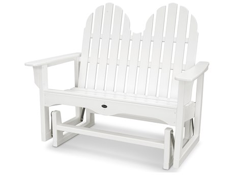 Trex® Outdoor Furniture Cape Cod Adirondack 48'' Glider in Classic White