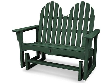 Trex® Outdoor Furniture Cape Cod Adirondack 48'' Glider in Rainforest Canopy