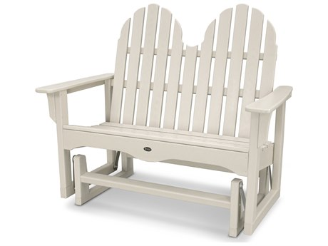 Trex® Outdoor Furniture Cape Cod Adirondack 48'' Glider in Sand Castle