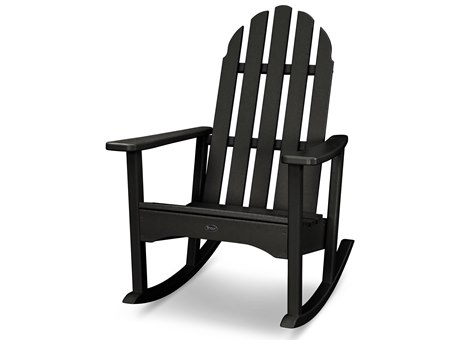 Trex® Outdoor Furniture Cape Cod Adirondack Rocking Chair in Charcoal Black