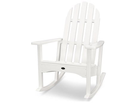 Trex® Outdoor Furniture Cape Cod Adirondack Rocking Chair in Classic White
