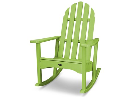 Trex® Outdoor Furniture Cape Cod Adirondack Rocking Chair in Lime