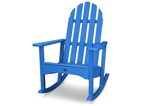 Trex® Outdoor Furniture Cape Cod Adirondack Rocking Chair in Pacific Blue