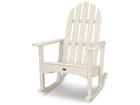 Trex® Outdoor Furniture Cape Cod Adirondack Rocking Chair in Sand Castle