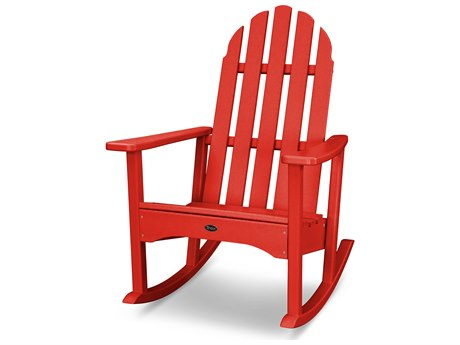 Trex® Outdoor Furniture Cape Cod Adirondack Rocking Chair in Sunset Red