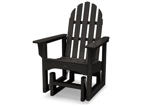 Trex® Outdoor Furniture Cape Cod Adirondack Glider Chair in Charcoal Black