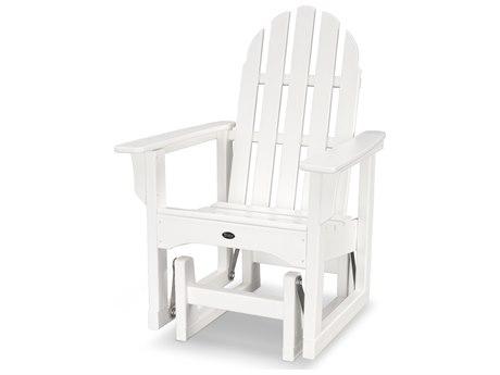 Trex® Outdoor Furniture Cape Cod Adirondack Glider Chair in Classic White
