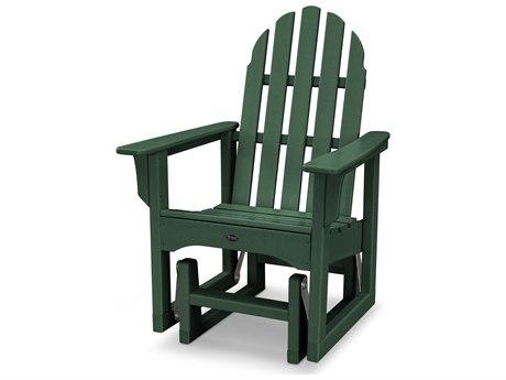 Trex® Outdoor Furniture Cape Cod Adirondack Glider Chair in Rainforest Canopy