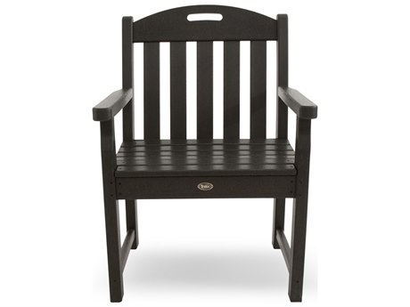 Trex® Outdoor Furniture Yacht Club Garden Arm Chair in Charcoal Black