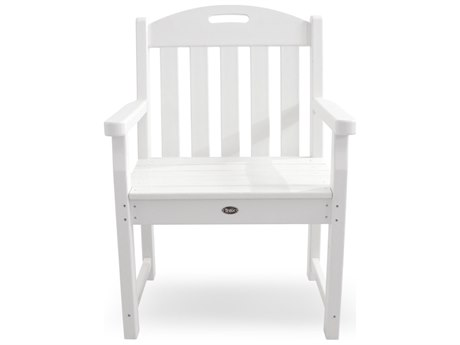 Trex® Outdoor Furniture Yacht Club Garden Arm Chair in Classic White