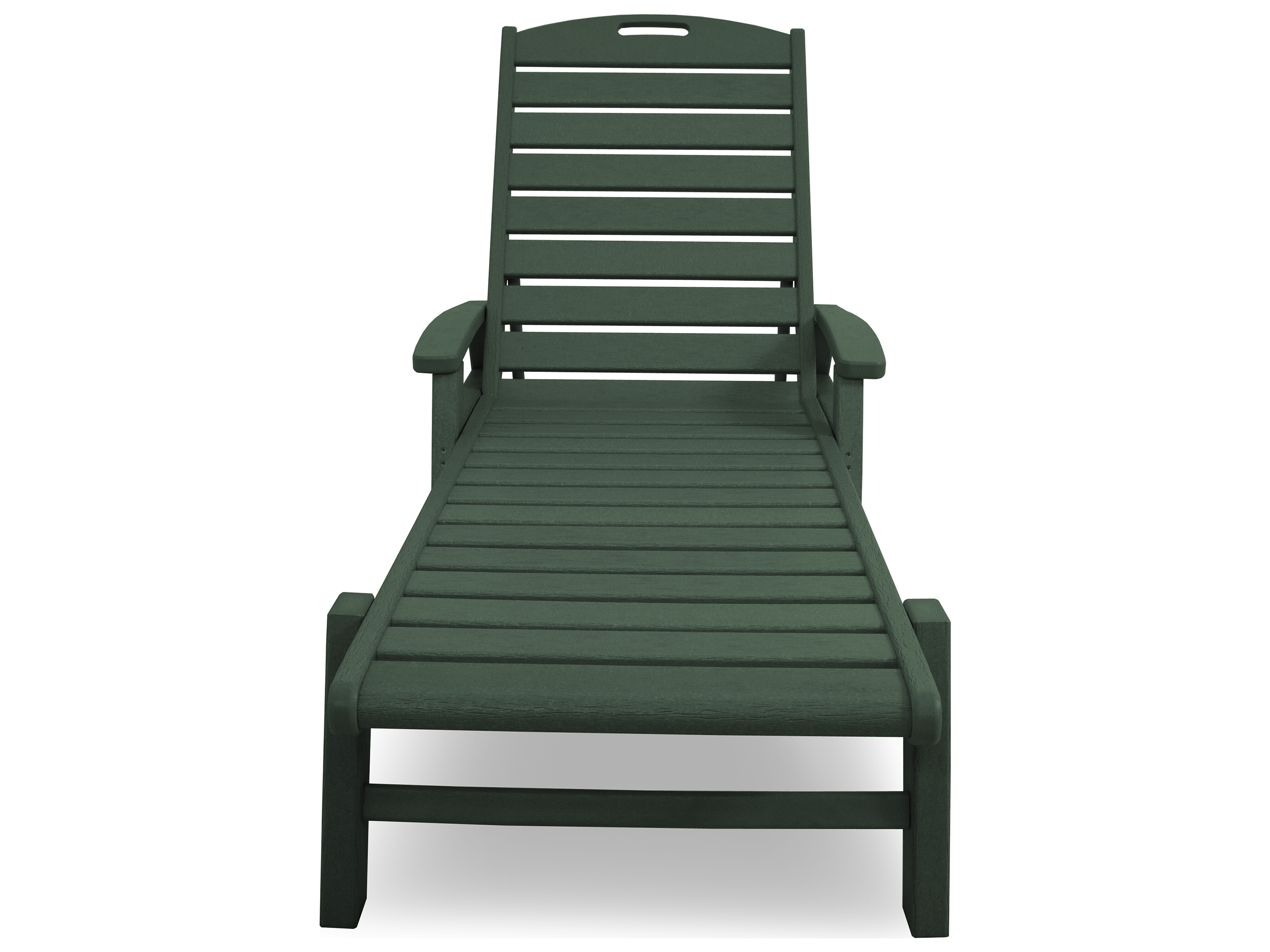 Trex yacht club recycled plastic chaise with arms for Chaise plastique