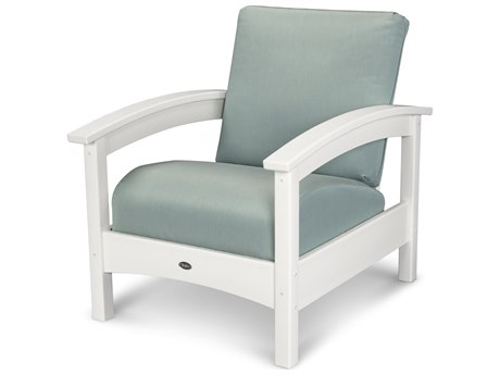 Trex® Outdoor Furniture Rockport Club Chair in Classic White / Spa TRXTXC23CW5413