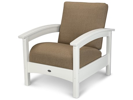 Trex® Outdoor Furniture Rockport Club Chair in Classic White / Sesame TRXTXC23CW8318