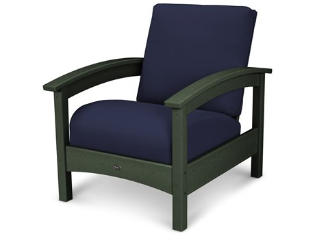 Trex® Outdoor Furniture Rockport Club Chair in Rainforest Canopy / Navy TRXTXC23RC5439