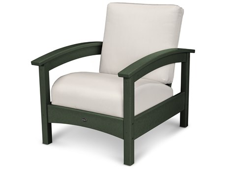 Trex® Outdoor Furniture Rockport Club Chair in Rainforest Canopy / Bird's Eye TRXTXC23RC5472