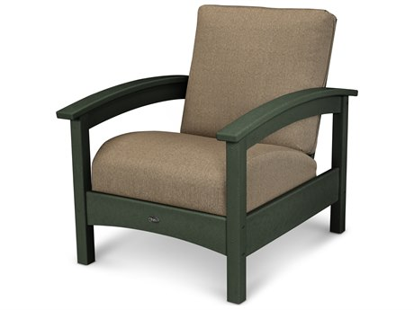 Trex® Outdoor Furniture Rockport Club Chair in Rainforest Canopy / Sesame TRXTXC23RC8318