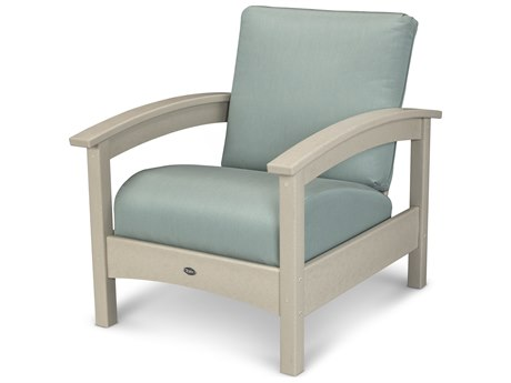 Trex® Outdoor Furniture Rockport Club Chair in Sand Castle / Spa TRXTXC23SC5413