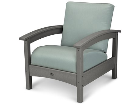 Trex® Outdoor Furniture Rockport Club Chair in Stepping Stone / Spa TRXTXC23SS5413