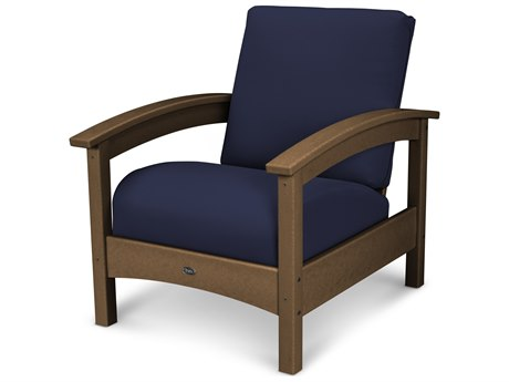 Trex® Outdoor Furniture Rockport Club Chair in Tree House / Navy TRXTXC23TH5439