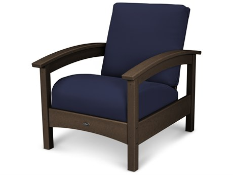 Trex® Outdoor Furniture Rockport Club Chair in Vintage Lantern / Navy TRXTXC23VL5439