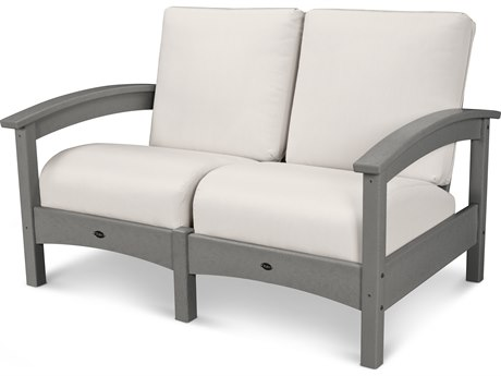 Trex® Outdoor Furniture Rockport Club Settee in Stepping Stone / Bird's Eye TRXTXC47SS5472