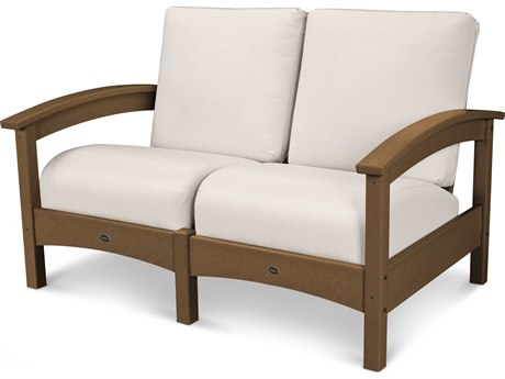 Trex® Outdoor Furniture Rockport Club Settee in Tree House / Bird's Eye TRXTXC47TH5472