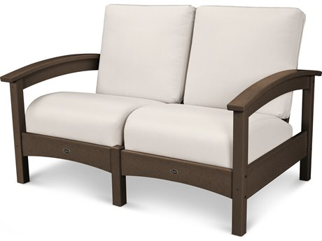 Trex® Outdoor Furniture Rockport Club Settee in Vintage Lantern / Bird's Eye TRXTXC47VL5472