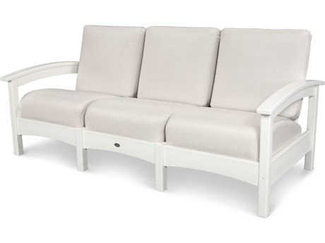 Trex® Outdoor Furniture Rockport Club Sofa in Classic White / Bird's Eye TRXTXC71CW5472