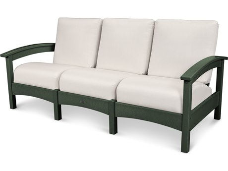 Trex® Outdoor Furniture Rockport Club Sofa in Rainforest Canopy / Bird's Eye TRXTXC71RC5472