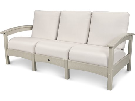 Trex® Outdoor Furniture Rockport Club Sofa in Sand Castle / Bird's Eye TRXTXC71SC5472