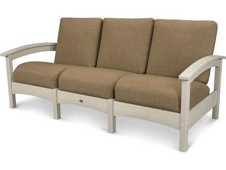 Trex® Outdoor Furniture Rockport Club Sofa in Sand Castle / Sesame TRXTXC71SC8318