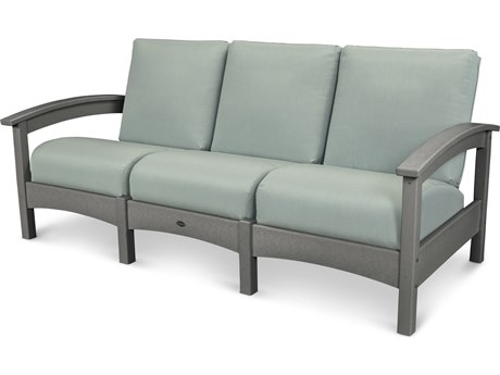 Trex® Outdoor Furniture Rockport Club Sofa in Stepping Stone / Spa TRXTXC71SS5413