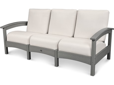 Trex® Outdoor Furniture Rockport Club Sofa in Stepping Stone / Bird's Eye TRXTXC71SS5472
