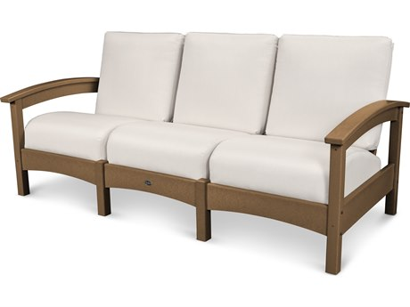 Trex® Outdoor Furniture Rockport Club Sofa in Tree House / Bird's Eye TRXTXC71TH5472