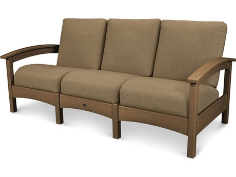 Trex® Outdoor Furniture Rockport Club Sofa in Tree House / Sesame TRXTXC71TH8318